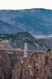 Puente real Colorado de la garganta imagen de archivo libre de regalías