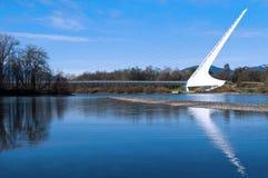 Puente Redding California del reloj de sol Imagen de archivo libre de regalías