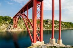 Puente rojo Imágenes de archivo libres de regalías
