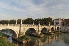 Puente Roma del ángel del santo Fotos de archivo