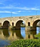 Puente Romano bridge in Merida, Spain Stock Images