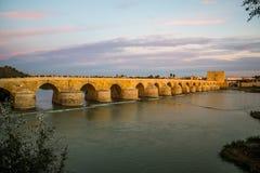 Puente romano de Córdoba Fotos de archivo libres de regalías