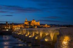 Puente romano de Córdoba Imágenes de archivo libres de regalías