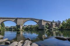 Puente romano de Orense foto de archivo libre de regalías