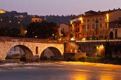 Puente romano en Verona Imágenes de archivo libres de regalías