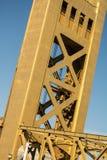 Puente Sacramento vieja de la torre Foto de archivo libre de regalías