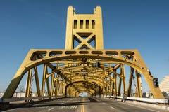 Puente Sacramento vieja de la torre Fotografía de archivo