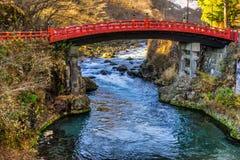 Puente sagrado de Nikko, Japón imagen de archivo