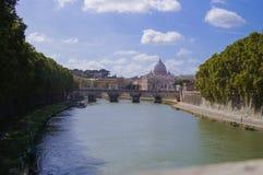 Puente Sant'Angelo Rome Foto de archivo libre de regalías