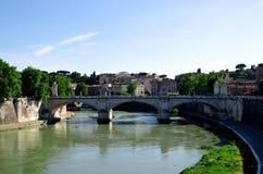 Puente Sant'Angelo Rome Fotos de archivo