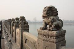 Puente Shish de China Lugou foto de archivo