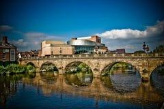 Puente Shrewsbury Galés   Fotos de archivo