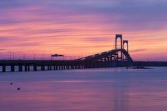 Puente Sillhouette Fotografía de archivo libre de regalías