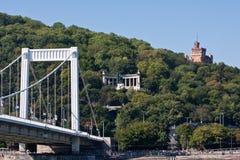 Puente sobre Donau en Budapest Imagen de archivo libre de regalías