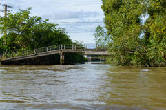 Puente sobre el canal Foto de archivo