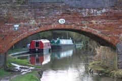 Puente 15 sobre el canal de Coventry Imágenes de archivo libres de regalías