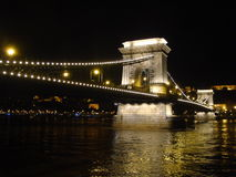 Puente sobre el Danubio Foto de archivo libre de regalías