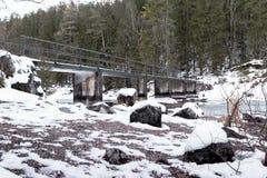 Puente sobre el eibsee del lago Imagen de archivo