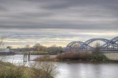 Puente sobre el Elbe fotografía de archivo