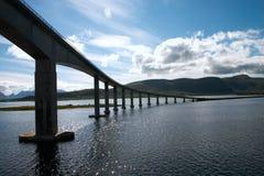 Puente sobre el fiord Fotografía de archivo libre de regalías