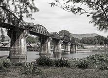 puente sobre el kwai del río Fotos de archivo libres de regalías