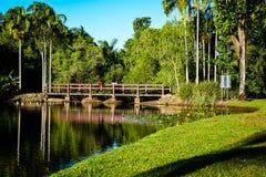 Puente sobre el lago Fotos de archivo