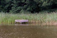 Puente sobre el lago en un bastón Foto de archivo libre de regalías