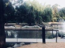 Puente sobre el lago hermoso fotos de archivo libres de regalías