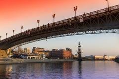 Puente sobre el Moscú-río, Moscú Imagen de archivo