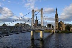 Puente sobre el Ness en Invern foto de archivo