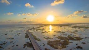 Puente sobre el pantano Fotografía de archivo libre de regalías