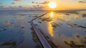 Puente sobre el pantano Imagenes de archivo