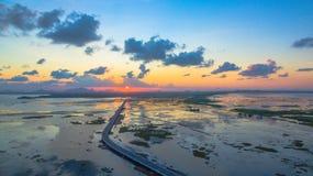 Puente sobre el pantano Fotos de archivo libres de regalías