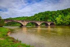 Puente sobre el río Cumberland Fotos de archivo