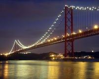 Puente sobre el río de Tagus Imagen de archivo libre de regalías
