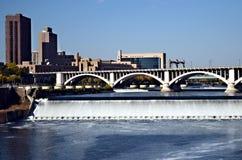 Puente sobre el río Misisipi Imágenes de archivo libres de regalías