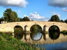 Puente sobre el río Nene Foto de archivo