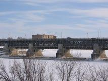 Puente sobre Floodway Fotos de archivo