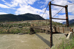 Puente sobre Fraser River Fotografía de archivo
