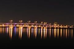 Puente sobre la bahía de Biscayne, Miami, la Florida imágenes de archivo libres de regalías