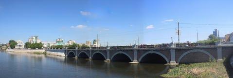 Puente sobre Miass Imágenes de archivo libres de regalías
