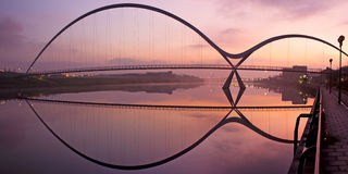 Puente Stockton del infinito en tes Foto de archivo libre de regalías