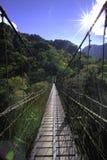 Puente suspendido Imágenes de archivo libres de regalías