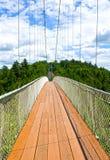 Puente suspendido el peatón más largo Quebec del mundo Imágenes de archivo libres de regalías