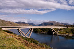 Puente Sutherland Escocia de Kylesku Imagen de archivo