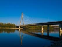 Puente Swietokrzyski, Varsovia, Polonia Fotografía de archivo libre de regalías