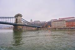 Puente Szechenji en Budapest Fotos de archivo