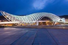 Puente Tbilisi de la paz Fotos de archivo libres de regalías