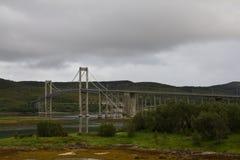 Puente tempestuoso Fotos de archivo