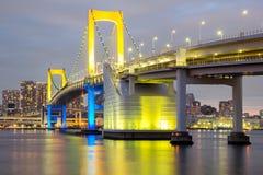 Puente Tokio del arco iris imágenes de archivo libres de regalías